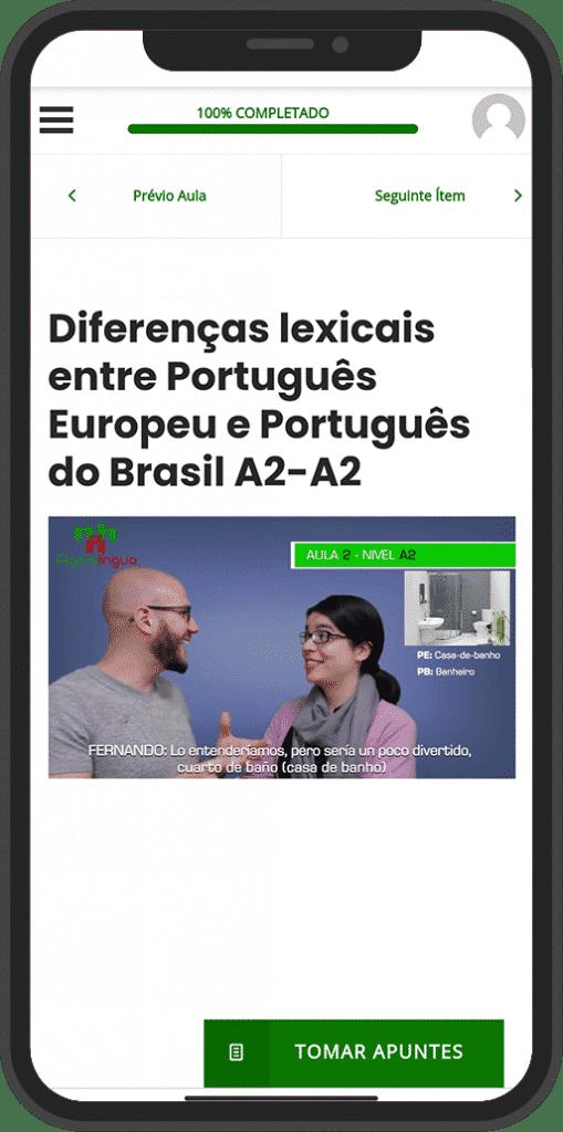 APLICACIÓN para aprender portugués online
