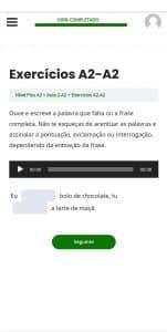 ejercicios en portugués