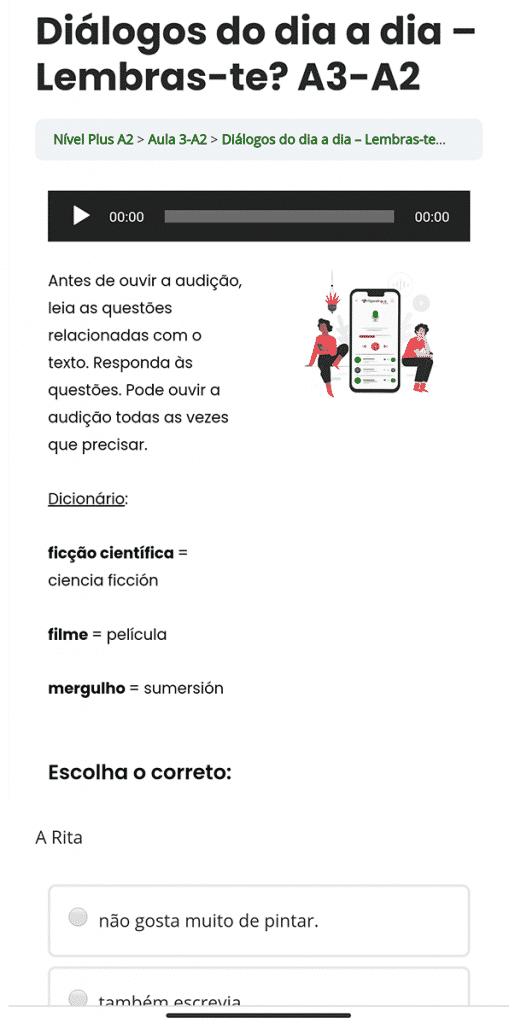 diálogos para aprender portugués online