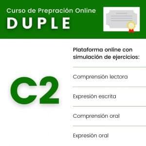 curso de preparación examen duple